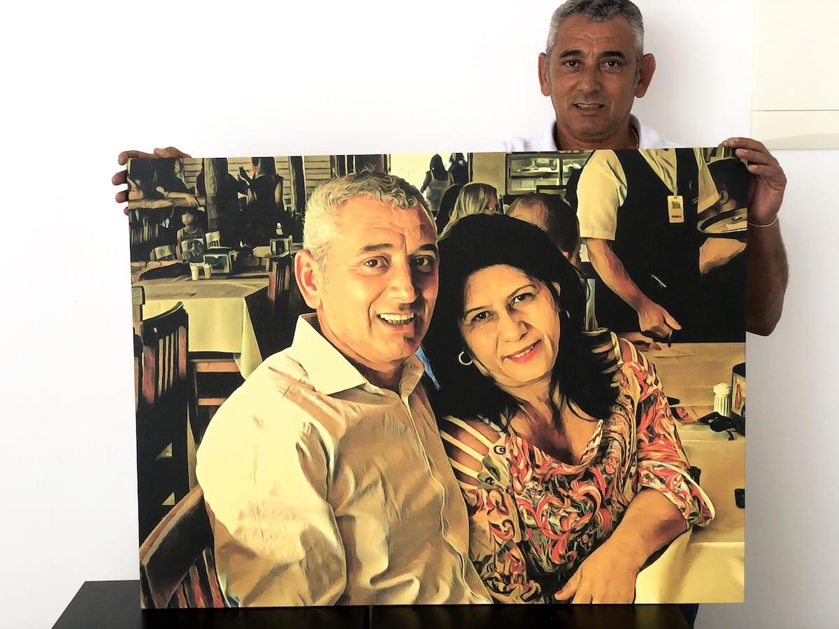 Foto de familia em pintura