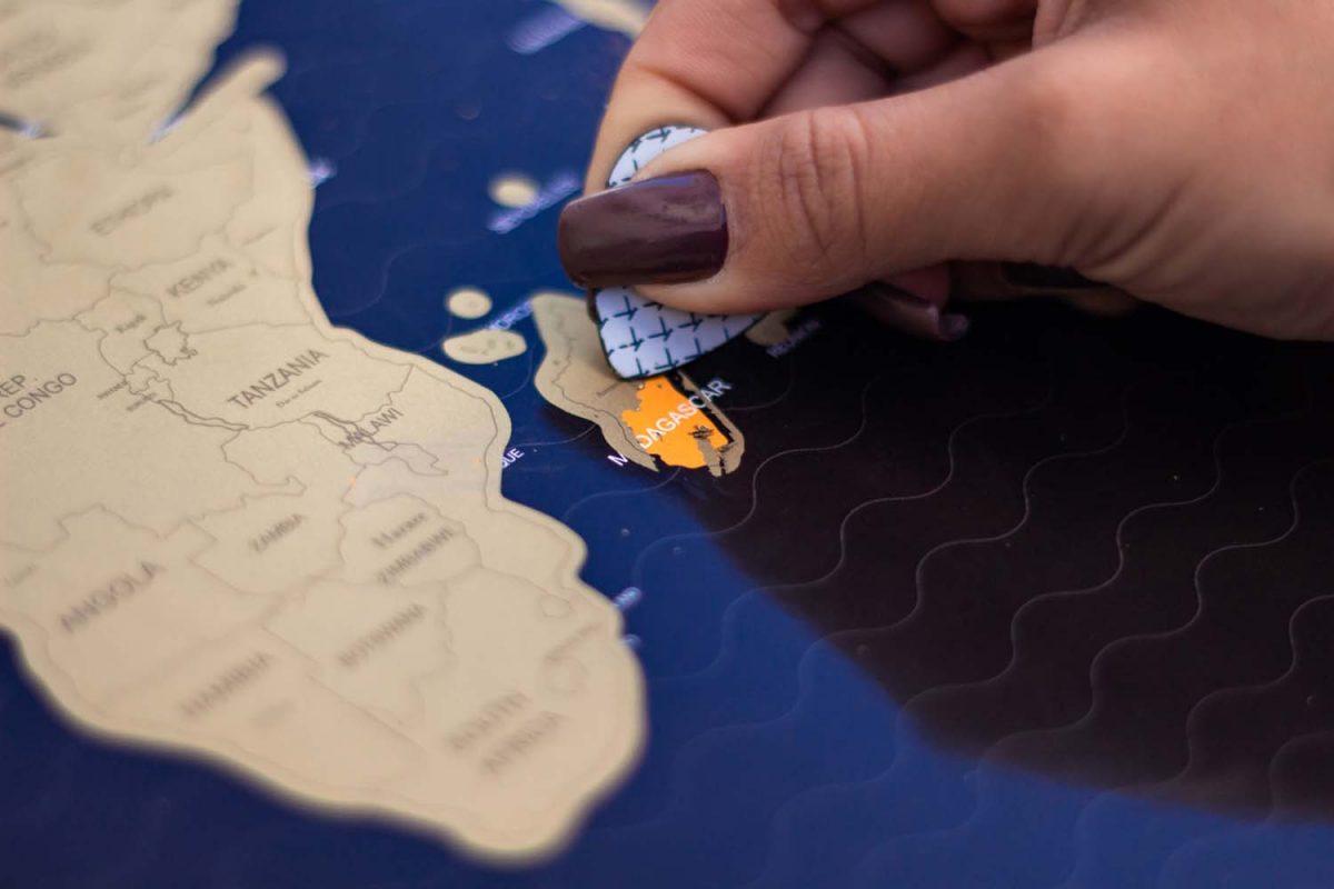 Mapa mundi detalhe
