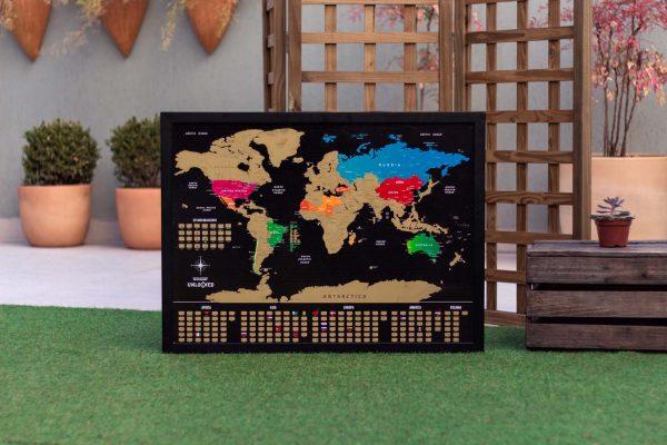 Mapa Mundi de Raspar Unlocked apresentação