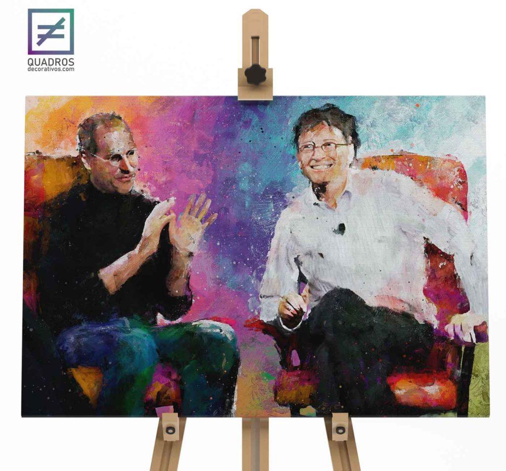 Quadro Steve Jobs e Bill Gates