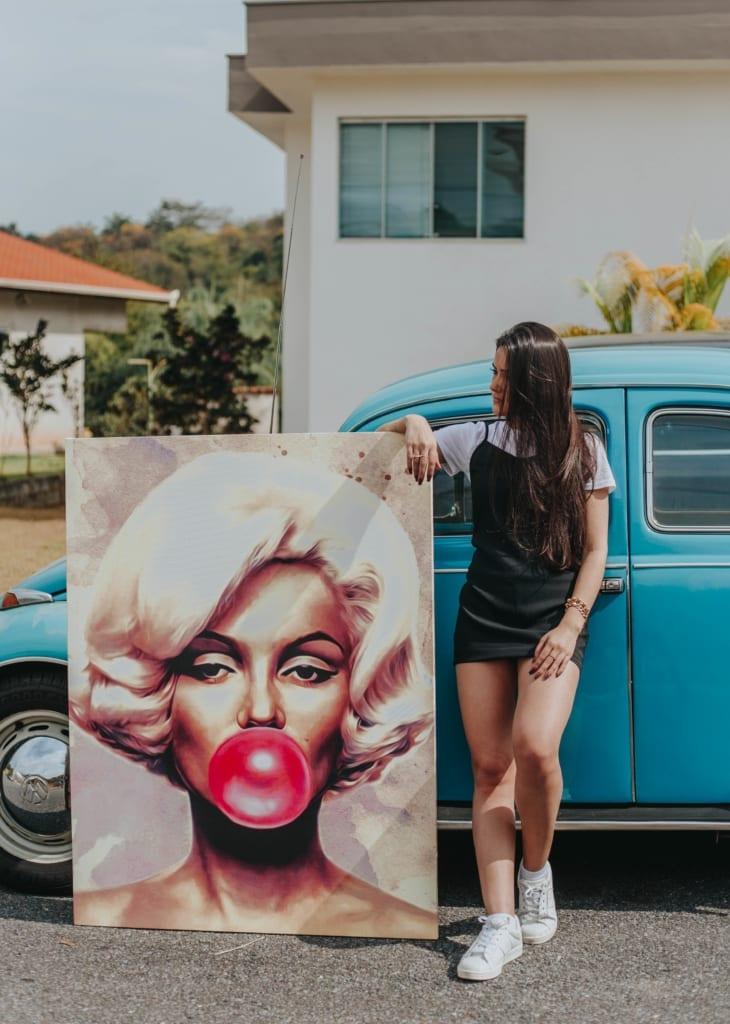 Quadro Invencível Marilyn Monroe