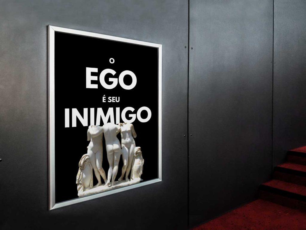 Quadros decorativos para escritório - O Ego é Seu Inimigo