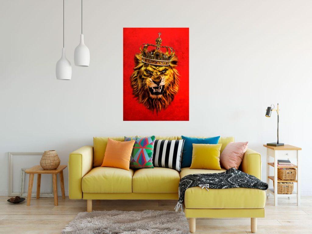 quadros para sala de jantar Lion King