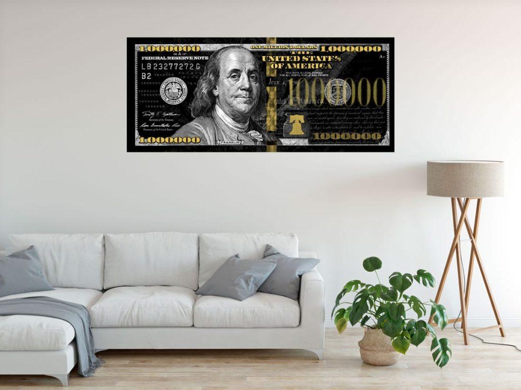 Quadros decorativos para escritório -1 Milhão de Dólares