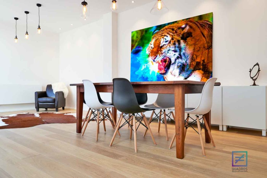 Quadro Tigre Felinos Incríveis