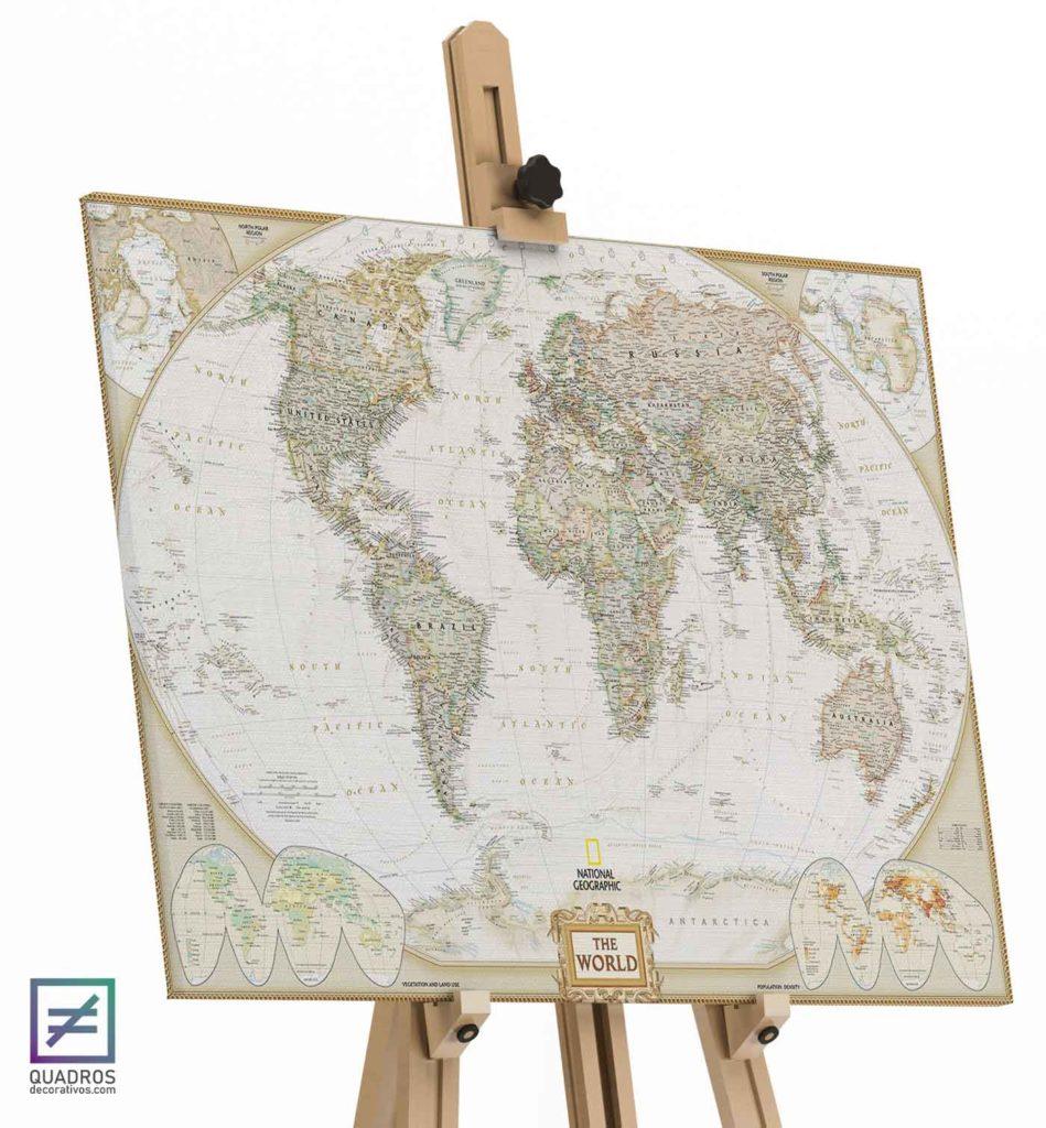 Quadro Map the world