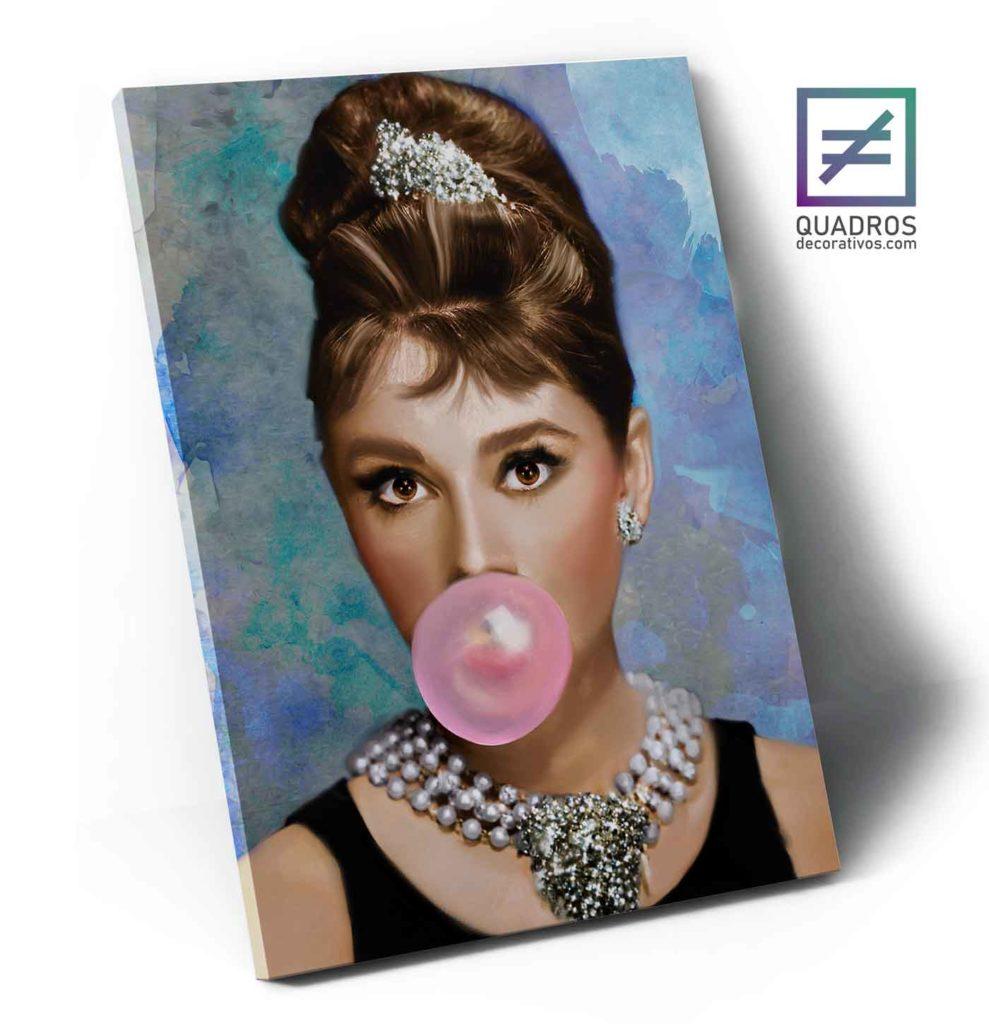 Quadro de artistas famosos - Audrey Hepburn