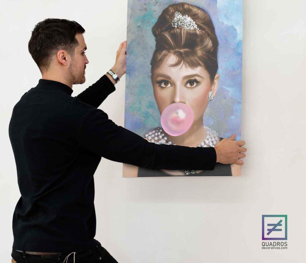 Quadro para quarto feminino Audrey Hepburn