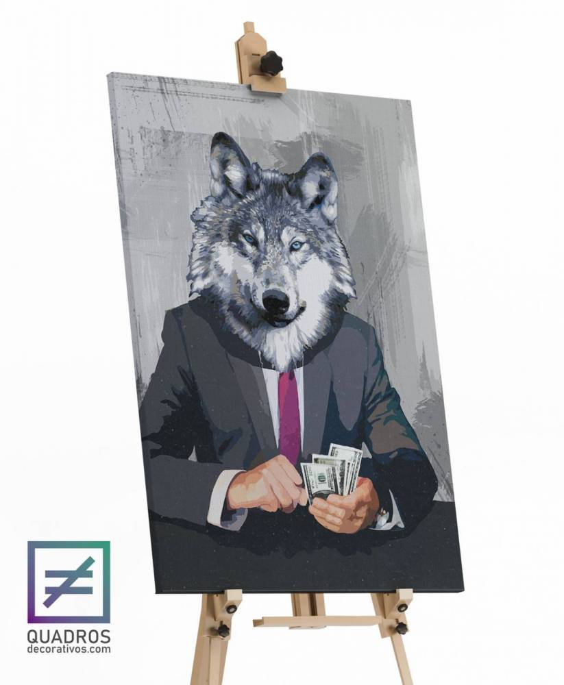 Quadros Decorativos Lobo A Espreita do Sucesso