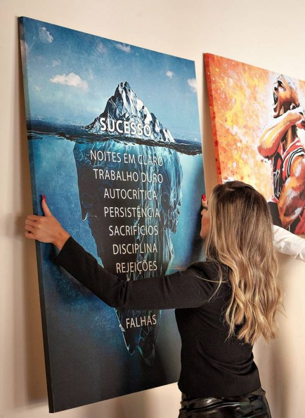 Quadros Decorativos - Quadro iceberg do sucesso