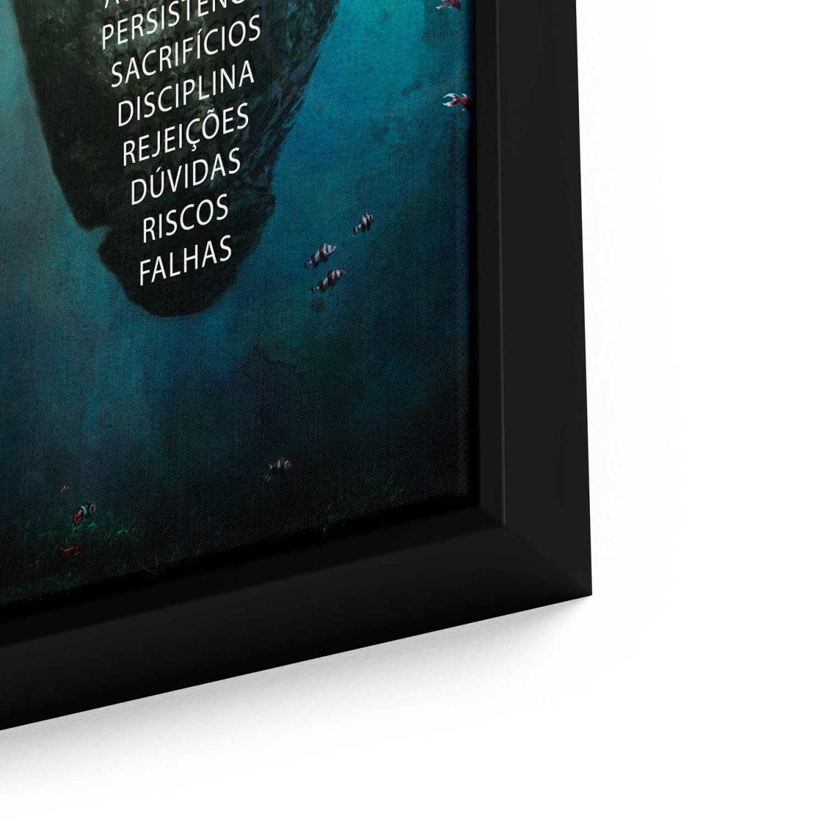 Quadro decorativo Ilha do Sucesso em tela com detalhe