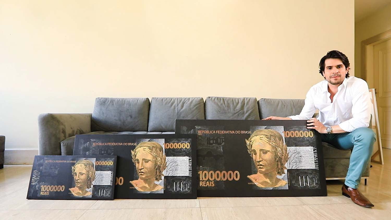 quadro 1 milhão de reais na psina 3 tamanhos