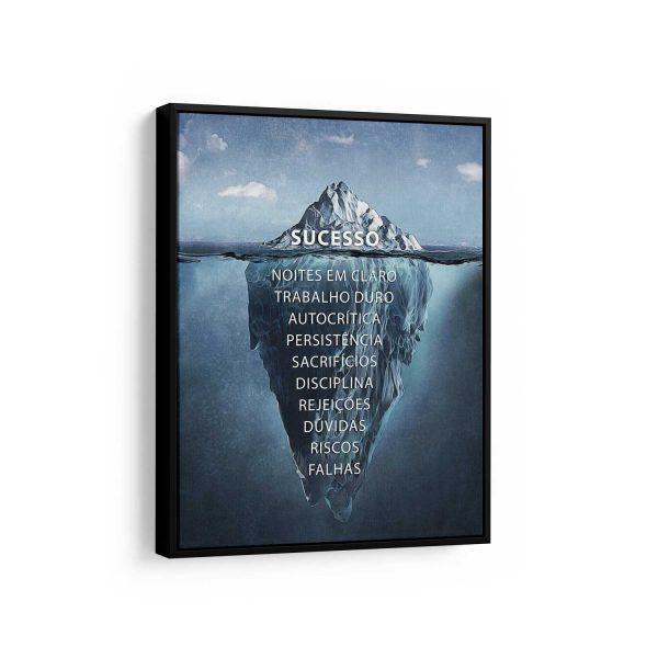 Quadro decorativo Iceberg do Sucesso em filete