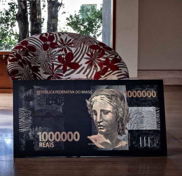 Quadros Decorativos Quadro 1 mihão de reais