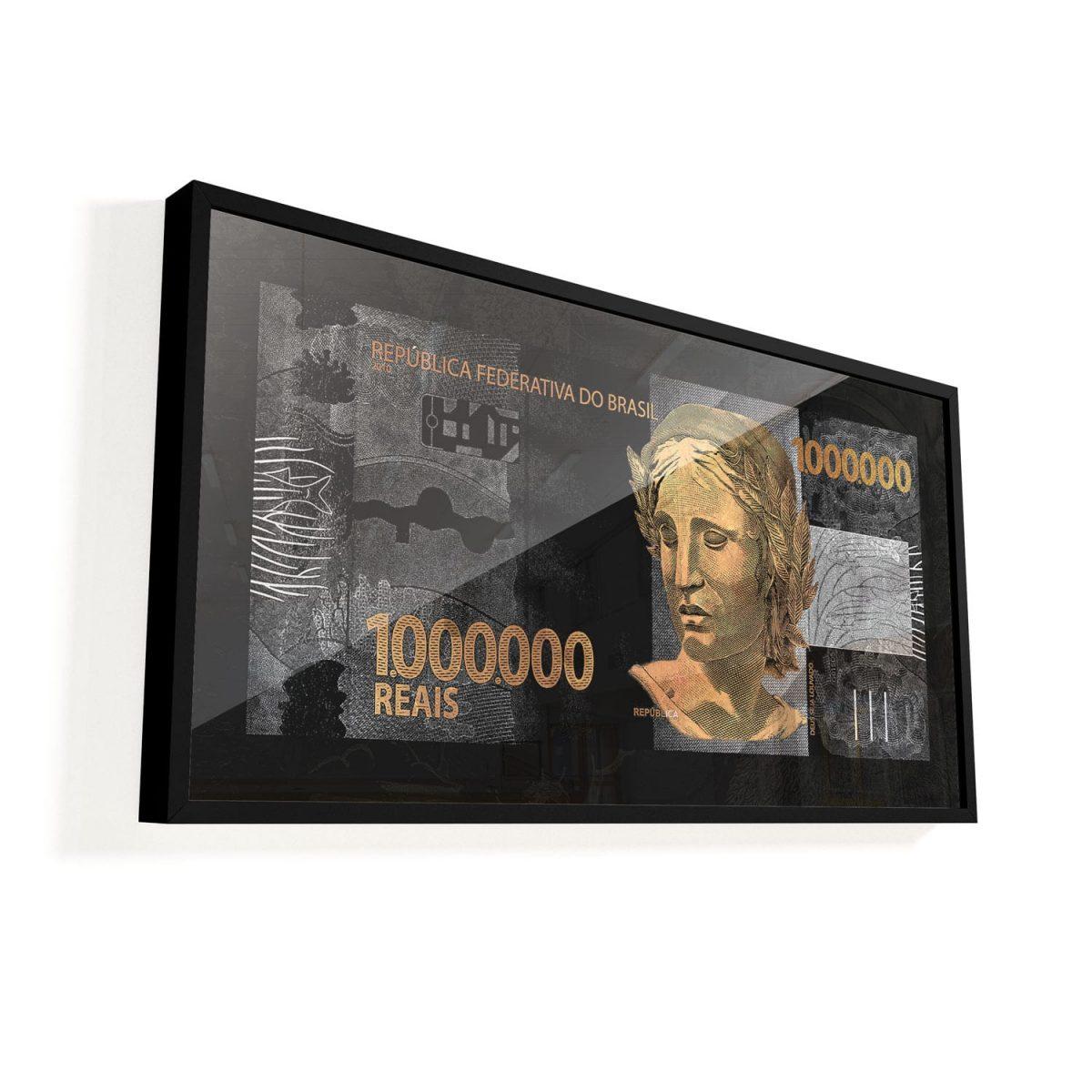 Quadro 1 Milhão de Reais vidro