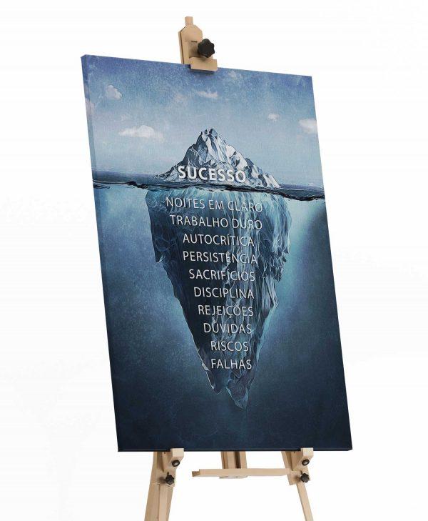 Quadro decorativo Iceberg do Sucesso tela de pintura