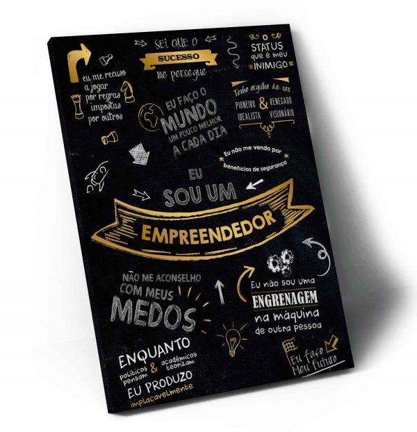 Quadros Decorativos Mentor Milionário – Orgulho Empreendedor em tela