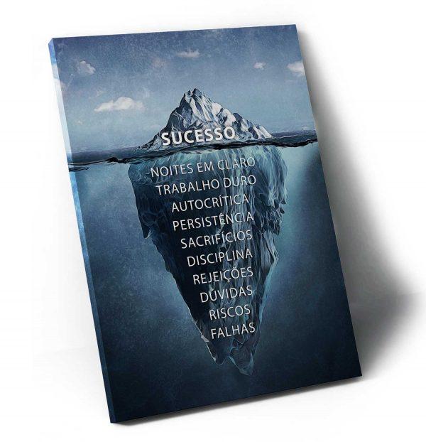 Quadro decorativo Iceberg do Sucesso sem moldura
