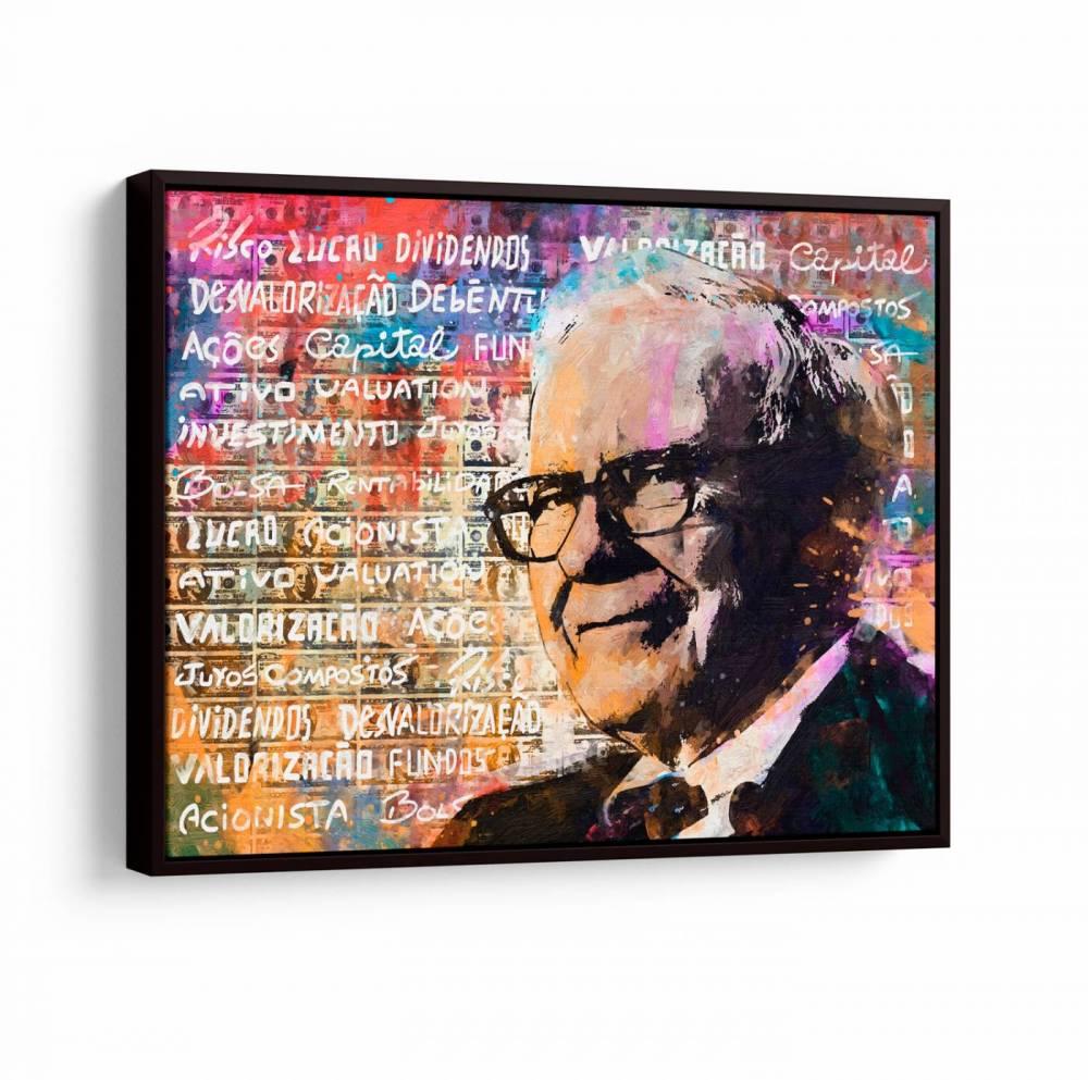 Quadro Warren Buffett, o cara do mercado financeiro.