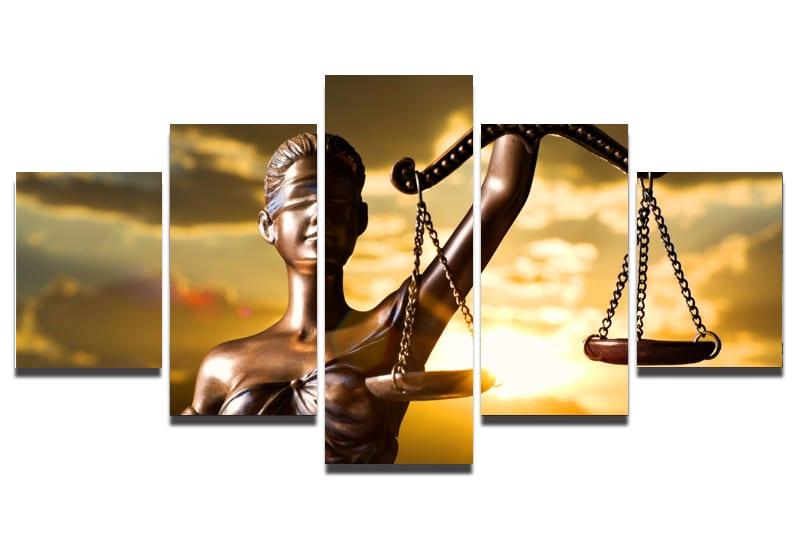 Conjunto de Quadros Direito 5 peças