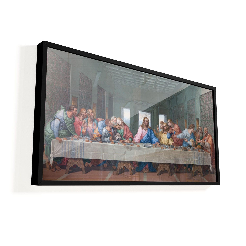 "Conjunto de Quadros ""Santa Ceia"" 1 peça vidro"