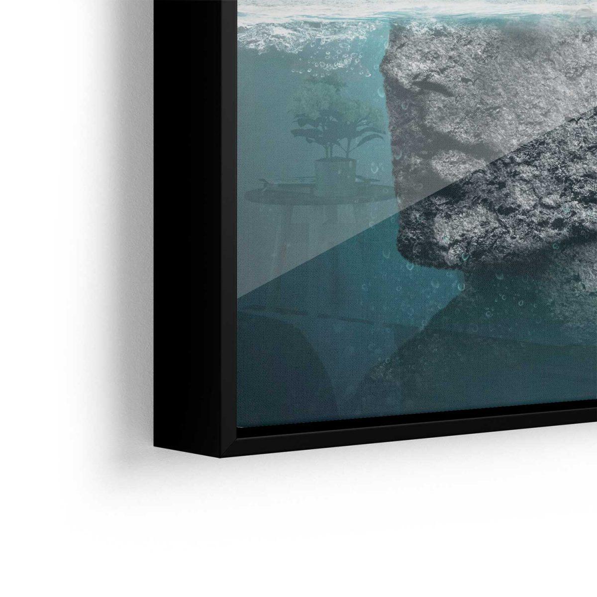 Quadro Brainstorming A Tempestade de Ideias aproximado vidro