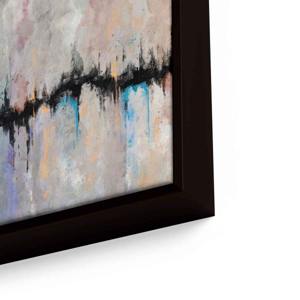 Quadro Abstrato Fenda em moldura com detalhe a direita