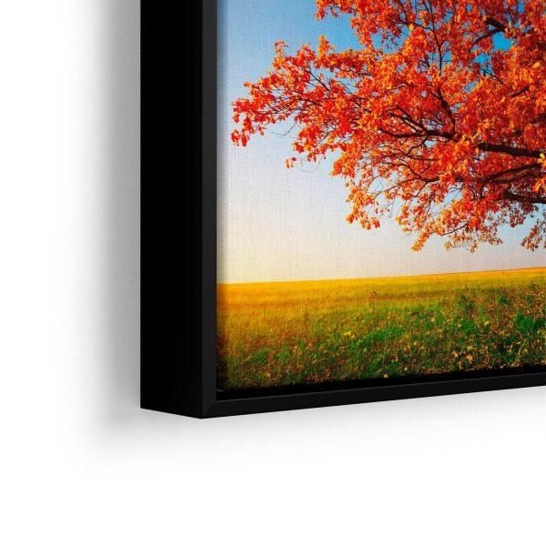 """Conjunto de Quadros """"Árvore do Outono"""" – em filete com detalhe a esquerda"""