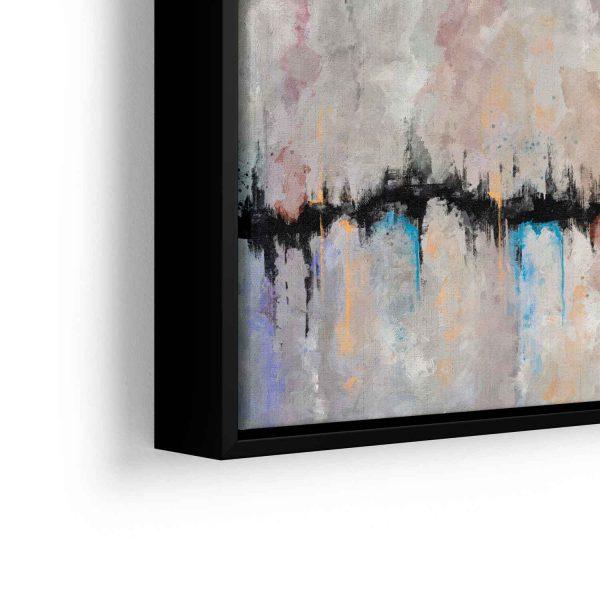 Quadro Abstrato Fenda em filete com detalhe a esquerda