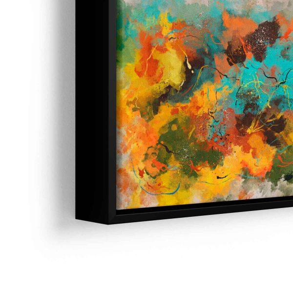 Quadro Abstrato Pinceladas em filete com detalhe a esquerda