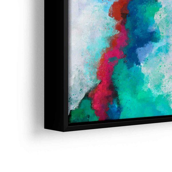 Quadro Abstrato Formas Coloridas em filete com detalhe a esquerda