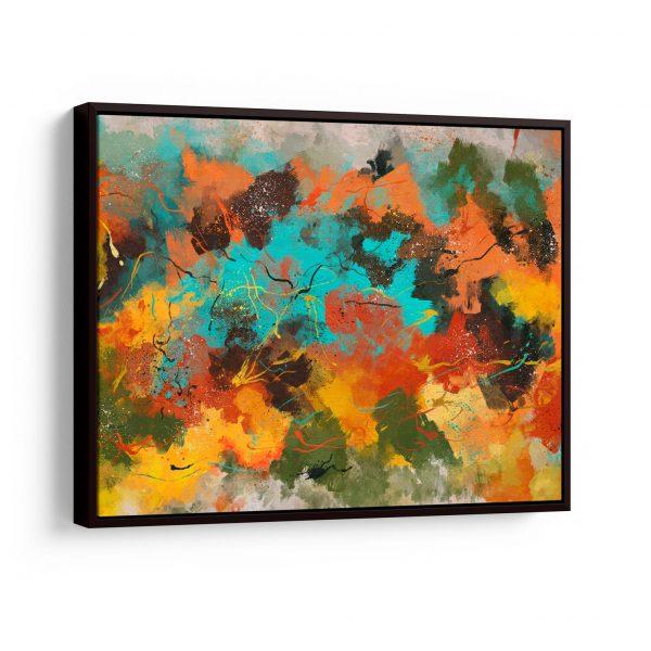 Quadros Decorativos Quadro Abstrato Corado em filete