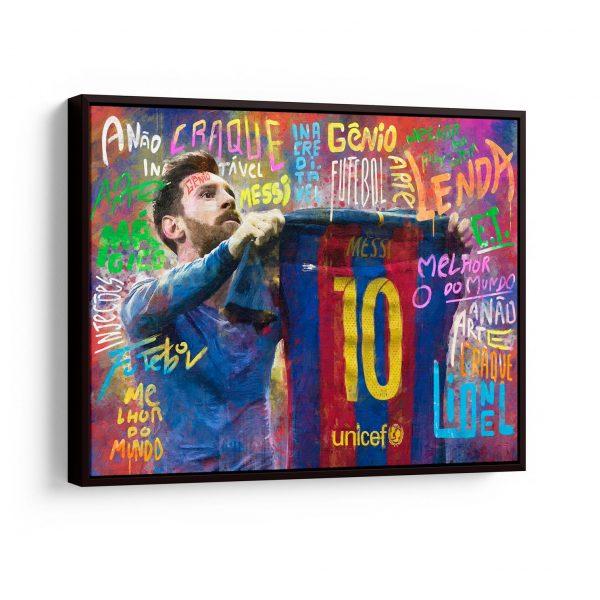Quadro O ET da Catalunha – Messi em filete