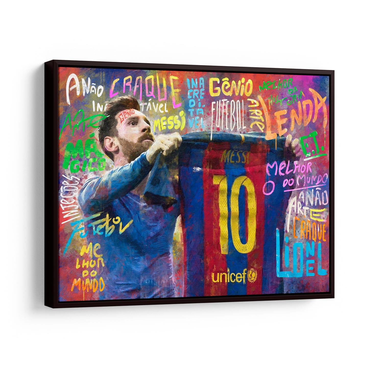 Quadro O ET da Catalunha Messi