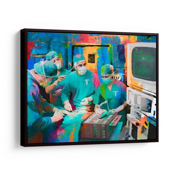 Quadro Cirurgia na Empresa em filete