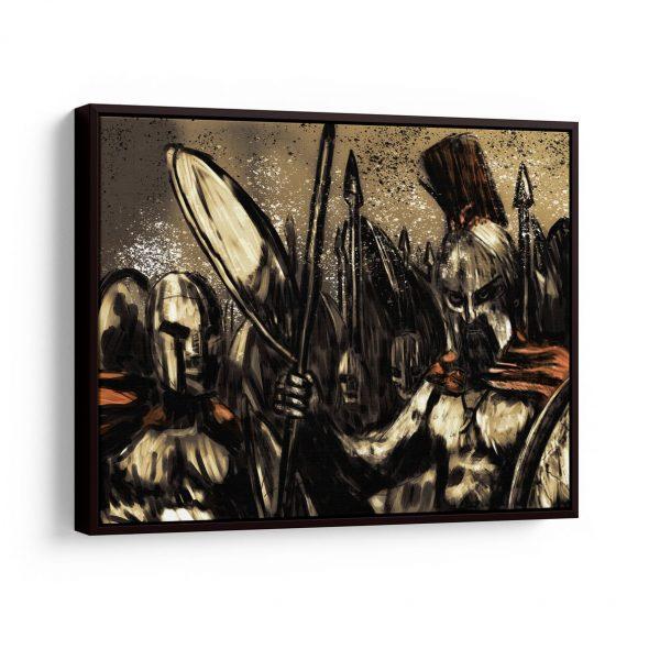 Quadro 300 Os Verdadeiros Espartanos em filete