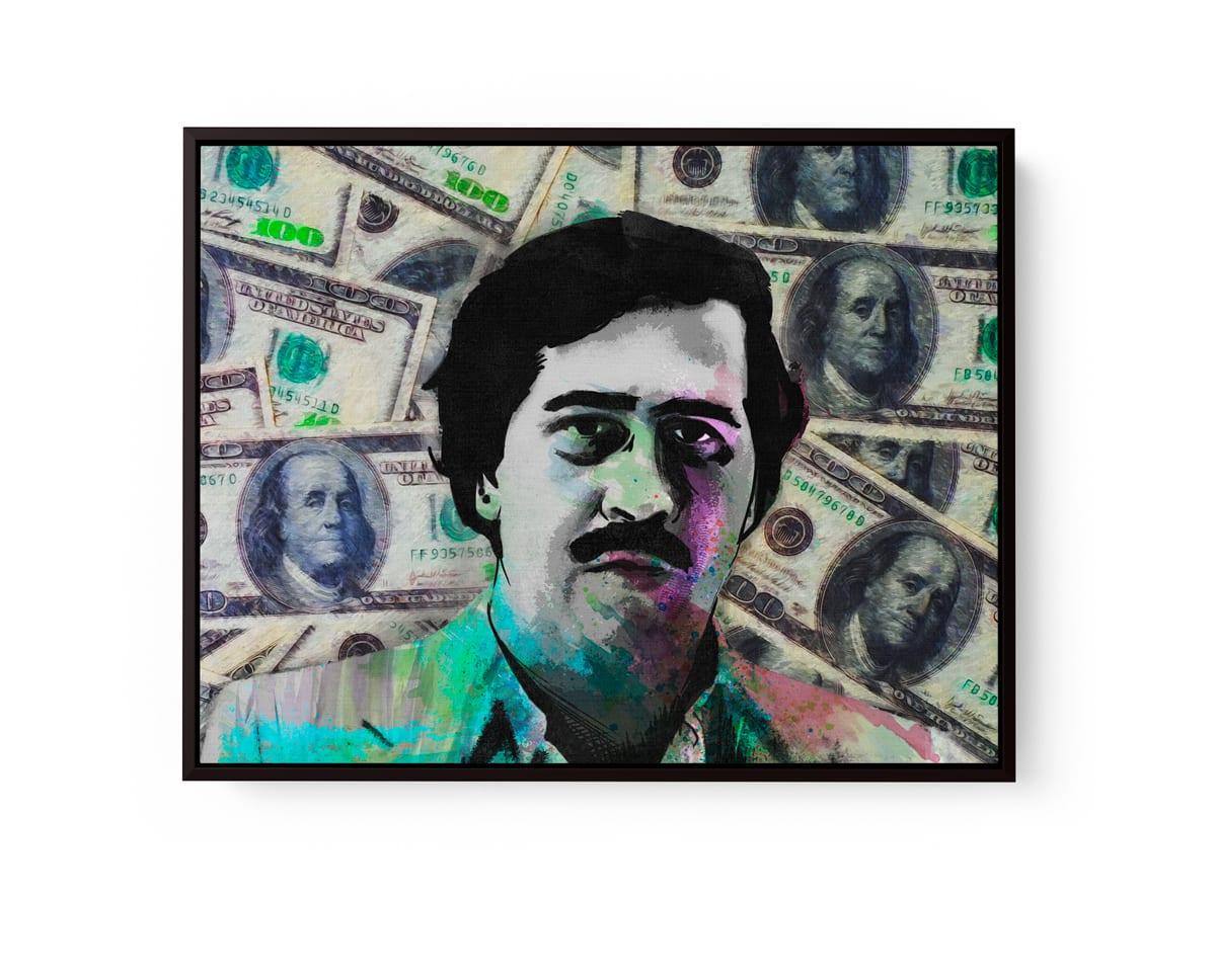 Quadro Pablo Escobar Especial Edition em filete