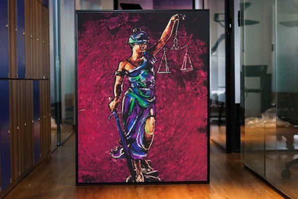 quadros para escritorio de advocacia Quadro Themis A Deusa da Justiça em filete