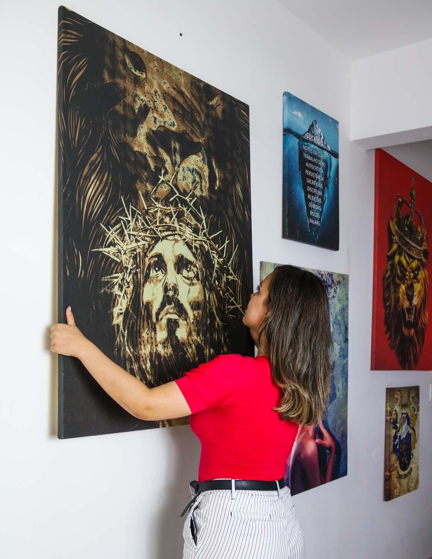 Quadro O Leão da Tribo de Judá Jesus apresentação em tela