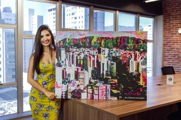 Quadro decorativo Belo Horizonte Uai em tela com detalhe