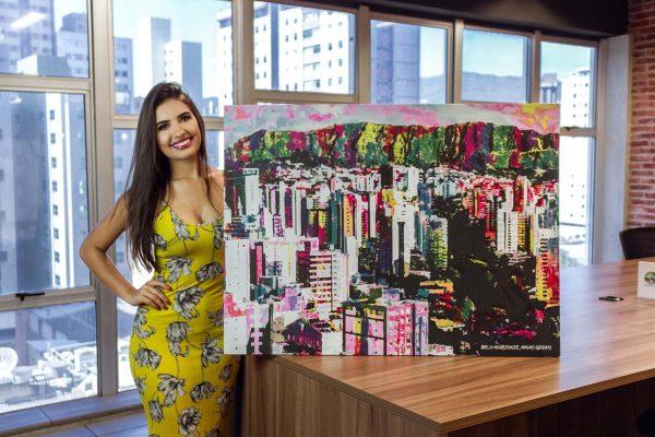 Quadro decorativo Belo Horizonte Uai em tela