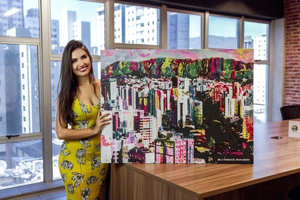 Quadro decorativo Belo Horizonte Uai tela de pintura
