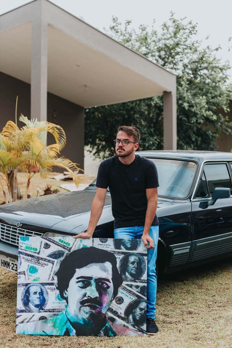 Quadro Pablo Escobar Especial Edition em tela abaixo