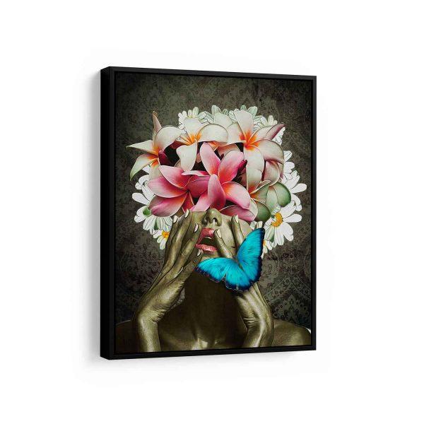 Quadro Floral Abstrato em filete