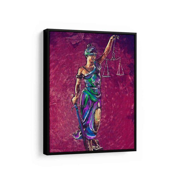 Quadro Themis A Deusa da Justiça em filete com quadros para escritorio de advocacia