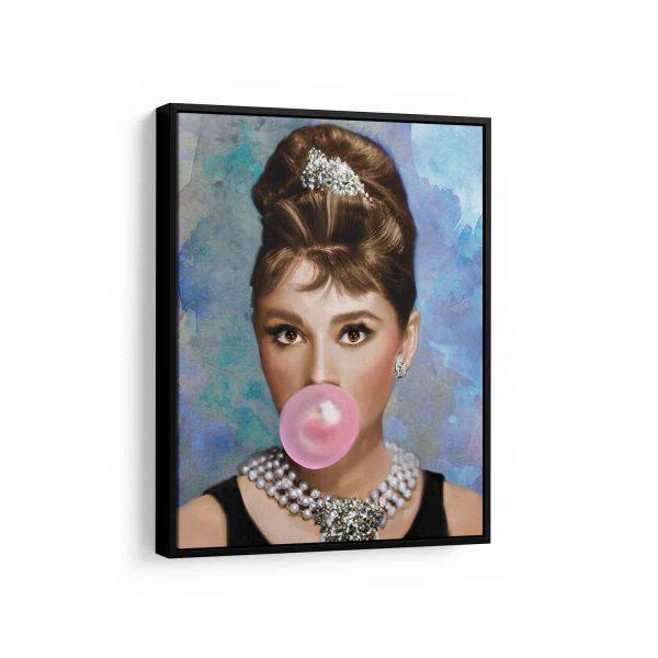 Quadro Ícone Audrey Hepburn em filete