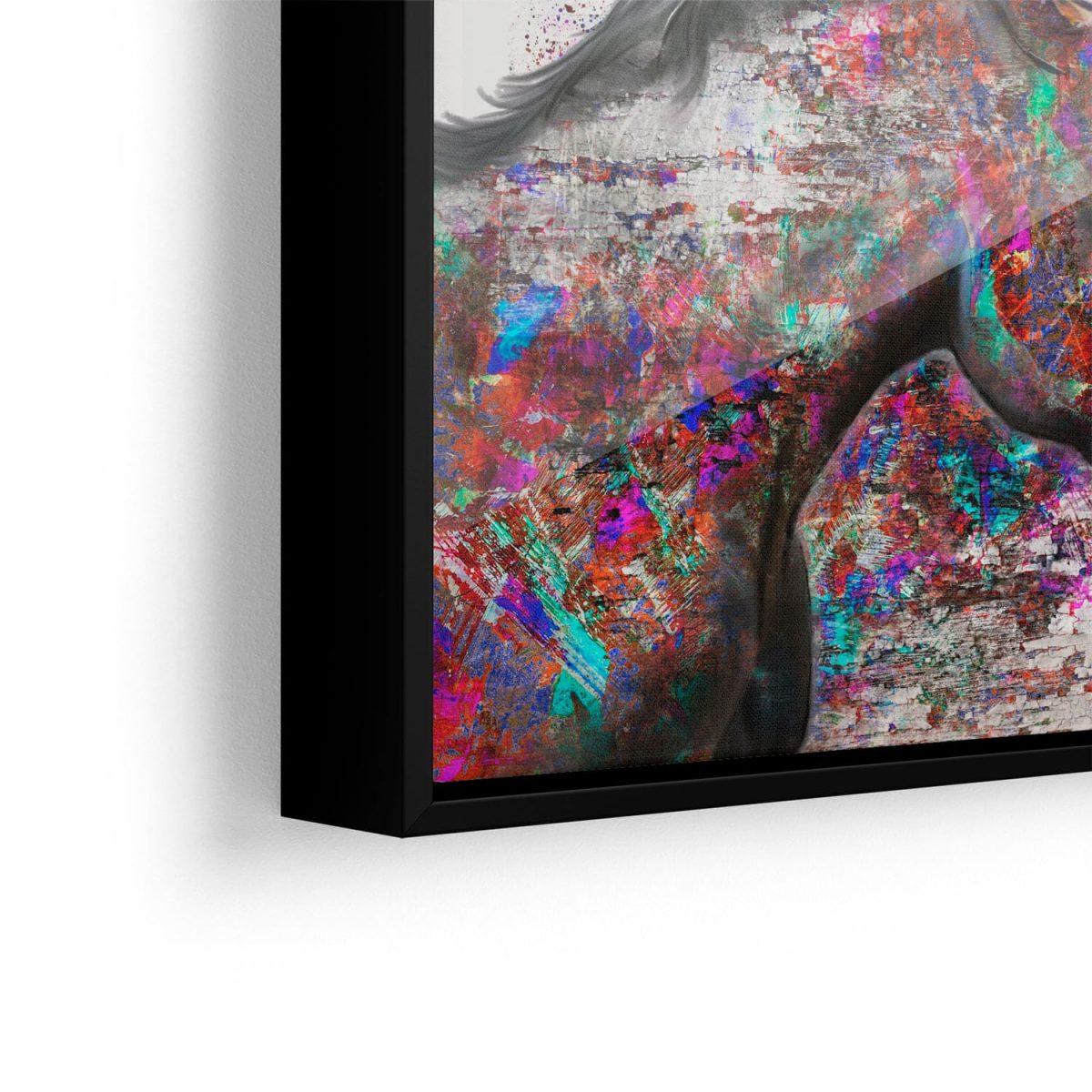 Quadro Cavalos Mágicos Horses aproximado vidro