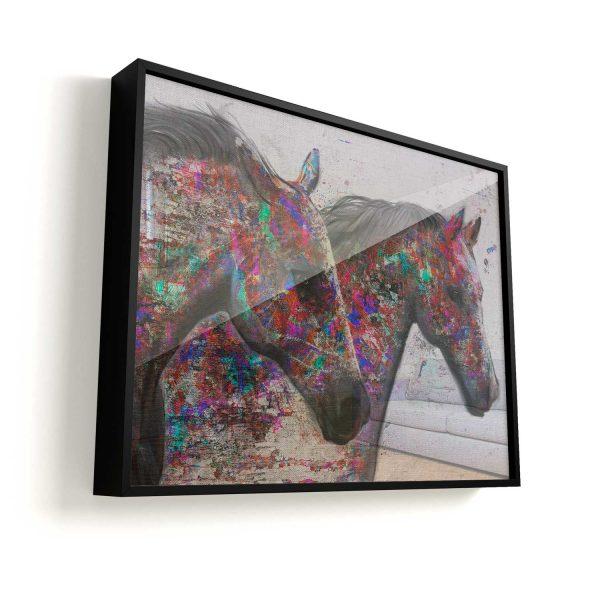 Quadro Cavalos Mágicos Horses moldura mais vidro