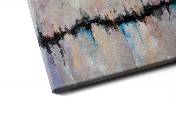 Quadro Abstrato Fenda em tela com detalhe a esquerda