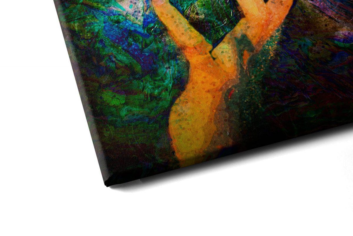 Quadro Beleza Indiana em tela com detalhe a esquerda